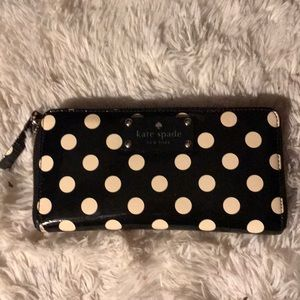 Kate Spade gently loved trifold polka dot wallet